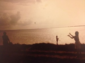 Watching the sunset by the Florida keys sometime in the eighties.