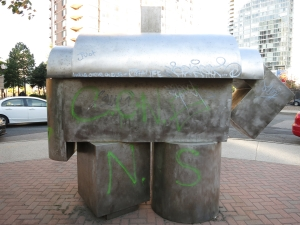 Sculpture or time machine portal for graffiti astronauts?