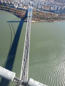Views of the George Washington Bridge.