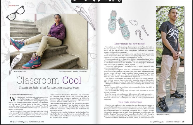 Jersey City Magazine: Classroom Cool