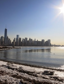 Jersey City Winter Beach